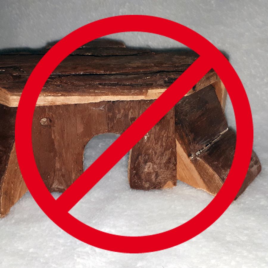Hamsterhaus aus ungeeignetem Holz